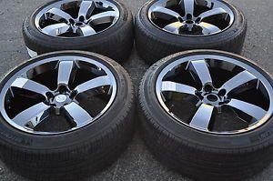 "20"" Dodge Charger Challenger SRT8 Black Chrome Wheels Rims Tires 2262"