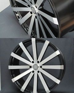 """Velocity V12 26"""" Wheels Rims Tires Fitchevy Cadillac GMC Ford Old School Cars"""