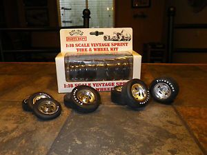 GMP 1 18 Vintage Sprint Car Tire and Wheel Set