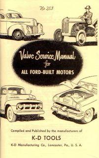 Valve Service Manual Ford Motors Hot Rod Vtg Old Style Book Engine V8