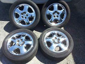 """Chrysler PT Cruiser Mopar Factory Stock 16"""" Chrome Wheels Rims 5x100 Tires"""