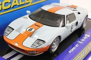Scalextric C3324 Gulf Ford GT Heritage w Lights New 1 32 Slot Car USA Exclusive