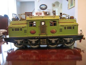 Vintage Antique Pre War Lionel 408E Apple Green Standard Gauge Locomotive Engine