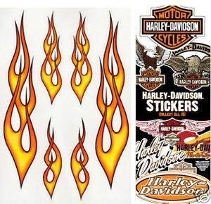 18 Flame Decals 1 Free Harley Davidson Decal