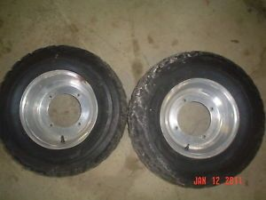 "01 02 03 04 Yamaha Warrior Front Wheels Rims Tires 10"" YFM350 Wheel Rim"