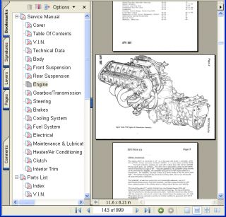 Lotus Esprit Turbo S3 Service Workshop Parts Manual