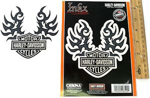 "Harley Davidson Tribal Wings on Logo ""Transparent"" Decal Sticker"