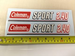 Coleman Sport 2 40 Mini Bike Minibike Decals Stickers