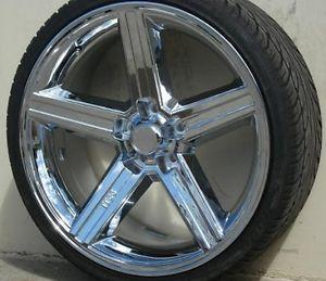 wheel tire packages 26 inch triple chrome rim u2 35t. Black Bedroom Furniture Sets. Home Design Ideas