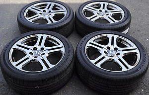 "Honda Accord 18"" Chrome Wheels Rims Tires Factory Stock Wheels 71735"