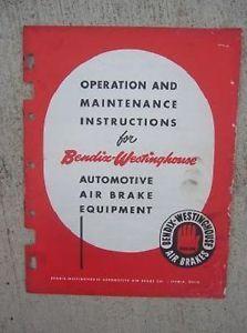1957 Bendix Westinghouse Auto Air Brake Equipment Operation Maintenance Manual J