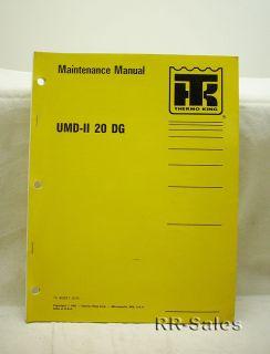 Thermo King UMD II 20 DG 3 66 Engine Maintenance Manual