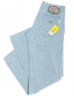 "Versace ""Metal Medusa"" Mens Logo Baggy Jeans Pants Metallic Denim"