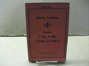 International Truck Models D 30 DS 30 D 30B Parts Catalog MT 37 A