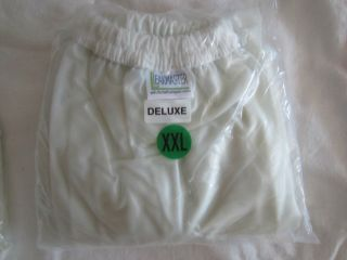 XXL Deluxe Adult Leakmaster Clear Plastic Pants NIP