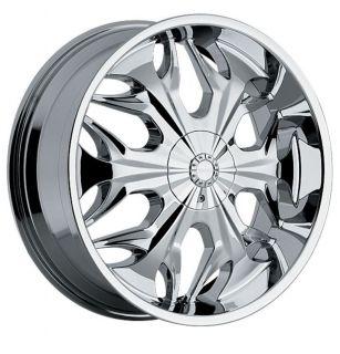 "22"" x 9 5"" Akuza Reaper 508 5x120 BMW Camaro S10 Range Rover Chrome Wheels Rims"