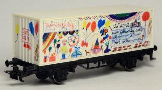 """Spur H0 Märklin 4426 Containerwagen Sondermodell """"UNICEF Geburtstagswagen 1995"""""""