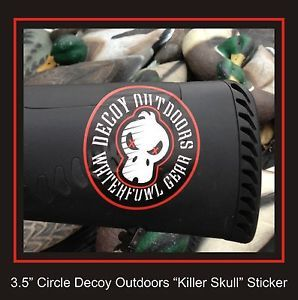 Killer Drake Skull Sticker by Decoy Outdoors Duck Hunting Decal Waterfowl Gear