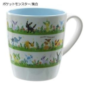 Pokemon Melamine Mug Eevee Friends Glaceon Vaporeon Umbreon Leafeon from Japan