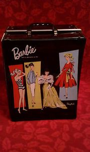 Vintage Barbie Carrying Case with 3 Accessory Boxes