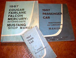 1967 Mustang 427 Cyclone Comet GT Ford Fairlane 500 XL Cougar Falcon Shop Manual
