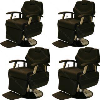 4 x Classic Professional Hydraulic Reclining Barber Chair Beauty Salon Equipment