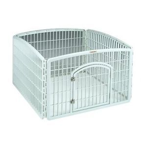 Pet Fence Indoor Outdoor Plastic Exercise Containment Pen Gate Dog Rabbit New