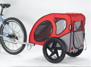 Small Dog Pet Bicycle Bike Trailer Easy Rear Entry