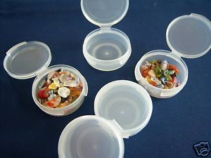 5 Snap Top Plastic Bead Containers