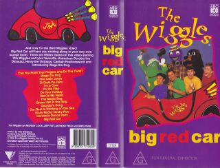 The Wiggles Big Red Car VHS Video PAL A RARE Find