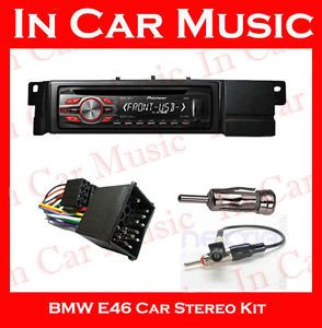 BMW 3 Series E46 Car Stereo Fitting Kit with Pioneer CD Player  USB Stereo