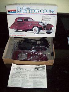 Vintage Monogram Mercedes Coupe Car Model Kit