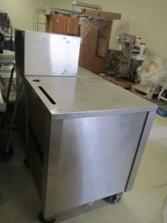 Lot of 2 Stainless Steel Food Service Cash Register Carts Drawer