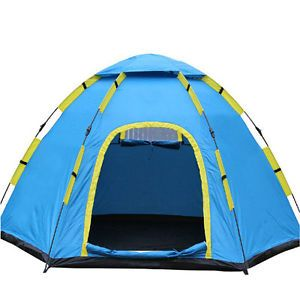 4 Persons Durable Waterproof Portable Pop Up Folding Camping Hiking Tent 13014