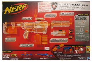 Nerf N Strike Clear Recon CS 6 Limited Clear Series Blaster