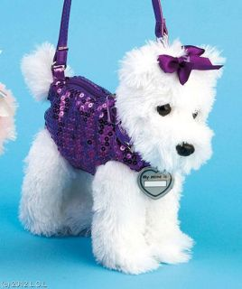 Girls' Dog Shaped Puppy Purse Handbag w Shoulder Strap Poodle Dalmation Scotty