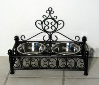 Dog Bed Cat Pet Wrought Iron Black Crown