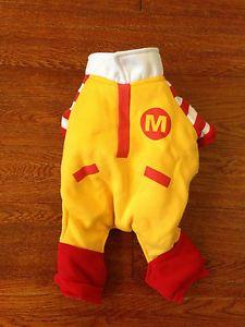 Cute Ronald McDonald Dog Costume Pet Clothes Halloween Size M