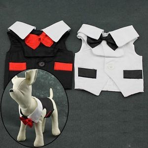 Pet Clothing Wedding Tuxedo Gentleman Suits for Boy Dog Costumes Full Dress Vest