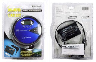 Brand New SEALED Emerson Portable CD Player Walkman Car Kit Remote Control