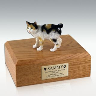 Cat Japanese BOBTAIL Tort White Figurine Pet
