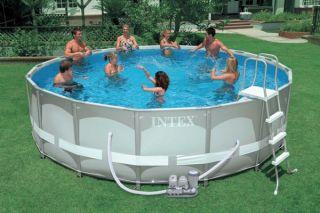 "Intex 16' x 48"" Ultra Frame Swimming Pool Set Saltwater System 54469EG"