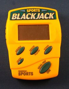Radica Sports Blackjack 21 Electronic Handheld Game Cards Casino Black Jack Toy