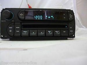 02 07 Dodge Chrysler Jeep Radio CD Player Factory P05091506AF