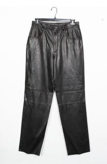 Final Sale Mens New Black Lambskin Leather Pants Size 34