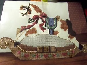 Rocking Horse Doorstop Plastic Canvas Pattern 754