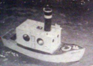 Vintage Midget Steam Tug Model Boat Plans Great 4 Ponds