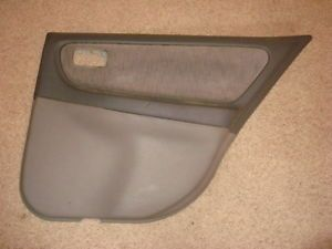 98 01 Nissan Altima Door Panel Skin Cover Rear Right Passenger Side Gray
