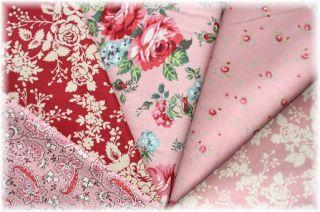 Paisley Vintage Look Pink Red Rawhide Moda Fabric