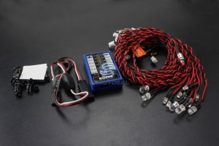 12 LED Multi Color RC Car Flashing LED Light Lamp System New Arrival